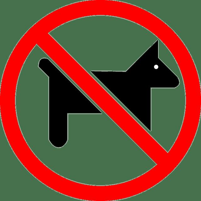 Signo No Se Aceptan Mascotas  Grficos vectoriales gratis