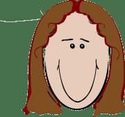 female brown hair happy free