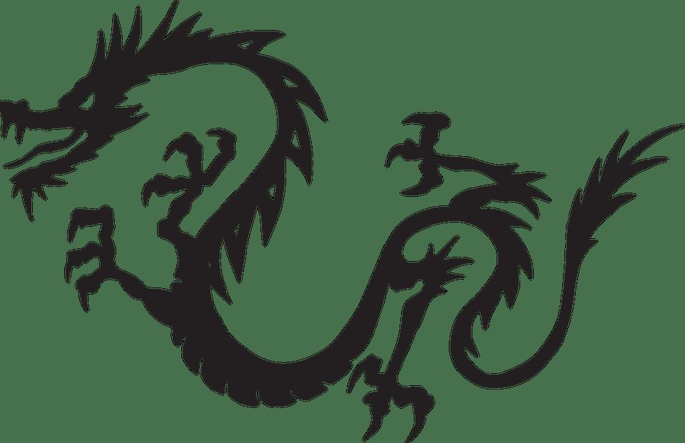 Ücretsiz vektör çizim: Dragon, Siyah, Uçan, Efsane