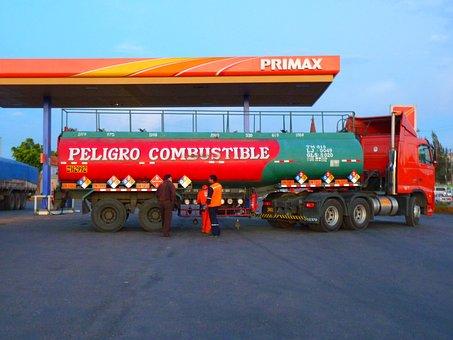 Petrol Stations, Truck, Vehicle
