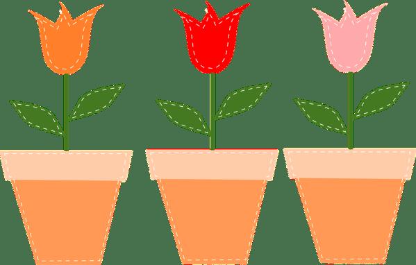 vasos de flores panelas tulipas