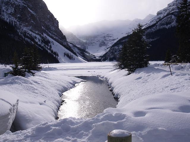 Free Photo Lake Louise Winter Frozen Lake Free Image