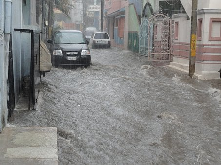 Flood, Water, Street, Disaster