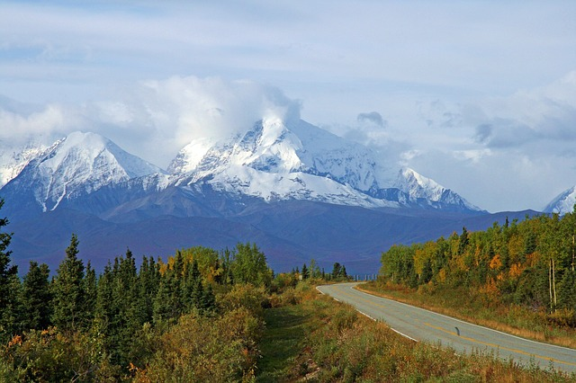 Fall Autumn Wallpaper Free Free Photo Alaska Wilderness Mountains Snow Free