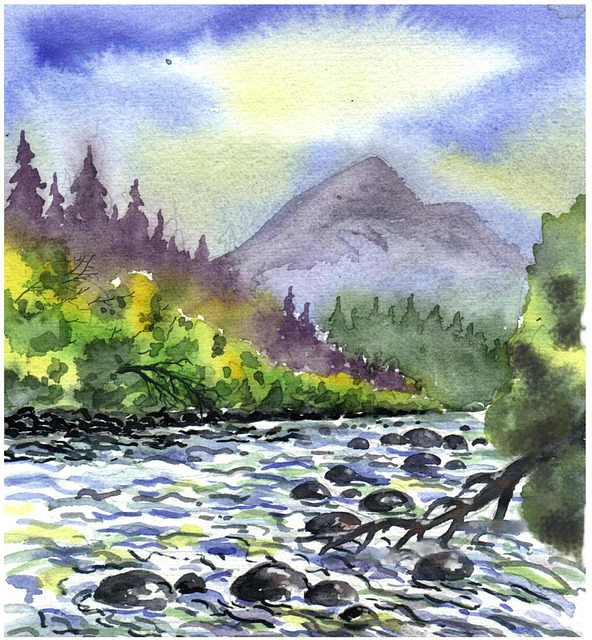 Watercolour Painting Landscape  Free photo on Pixabay