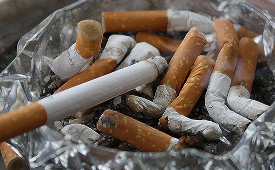 Cigarettes, Ash, Tilt, Smoking, Ashtray