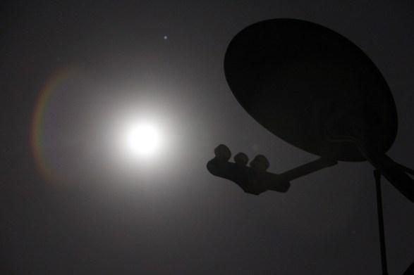 Satellite, Dish, Night, Moon, Technology, Antenna