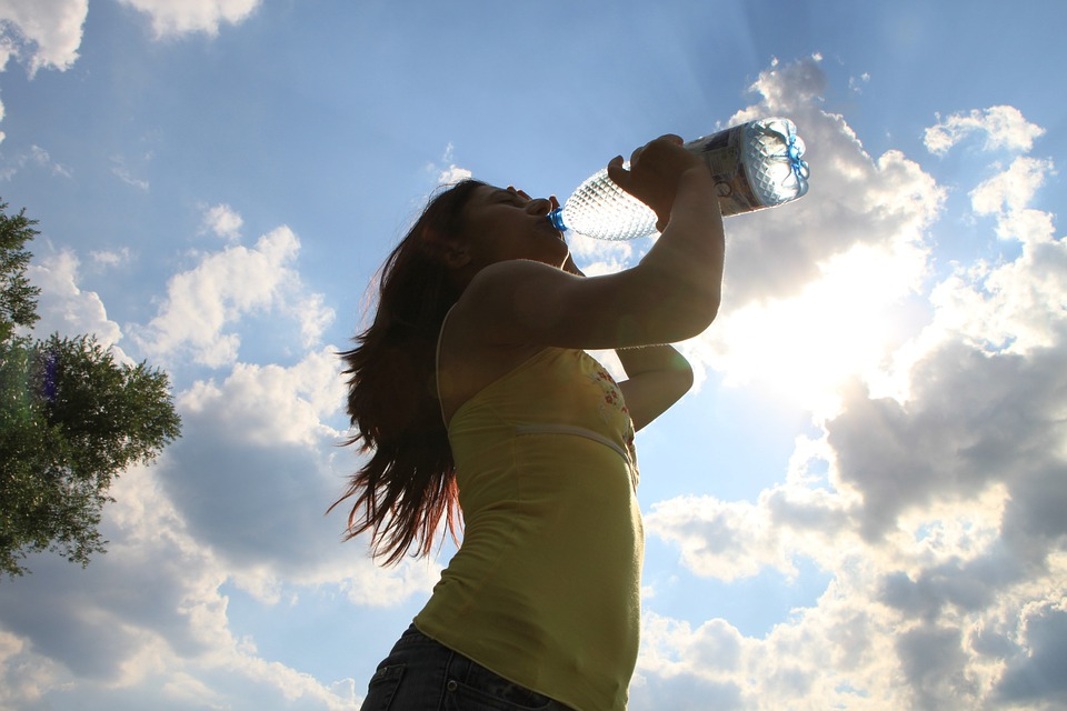 Drinking, Sun, Water, Woman, Young, Health, People | How Drinking Water Helps You Lose Weight