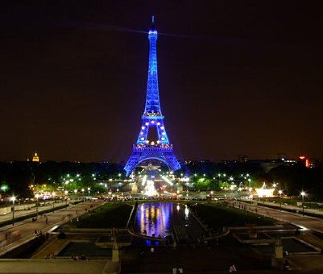 Eiffel Towersunset  C B Paris France Sky Night Evening