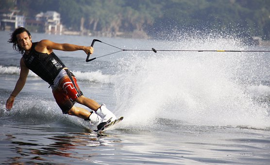 Mexico, Lake, Man, Wakeboard
