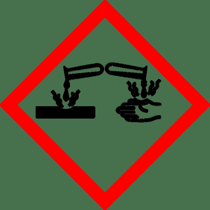 Ätzend, Säure, Warnung, Aufmerksamkeit, Ghs, Rot
