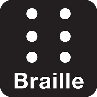 Braille, Barrier-Free, Black, Symbol