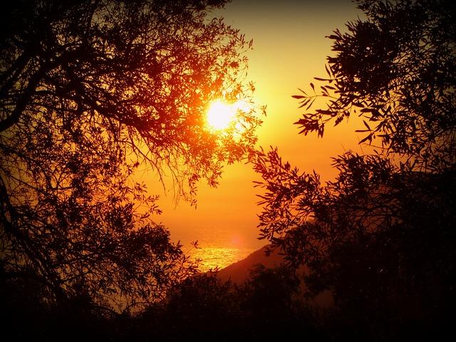 Fall Mountain Lake Wallpaper Free Photo Sun Sunset Sea Water Corfu Free Image On
