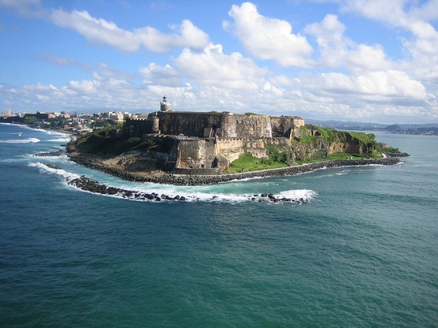 Puerto Rico, View, Ocean, Blue Sky, Caribbean, Rocks