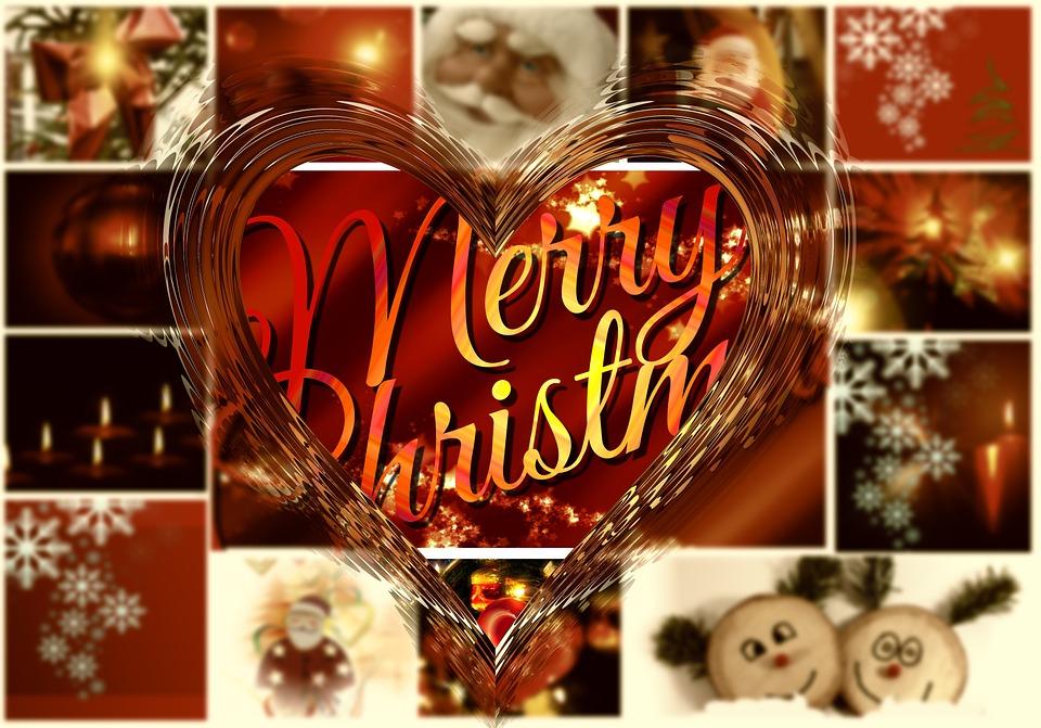 Kostenlose Illustration Collage Weihnachten Kerzenlicht