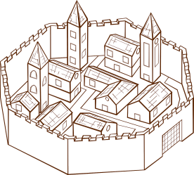 Medieval Town Village Surrounding Free vector graphic on Pixabay