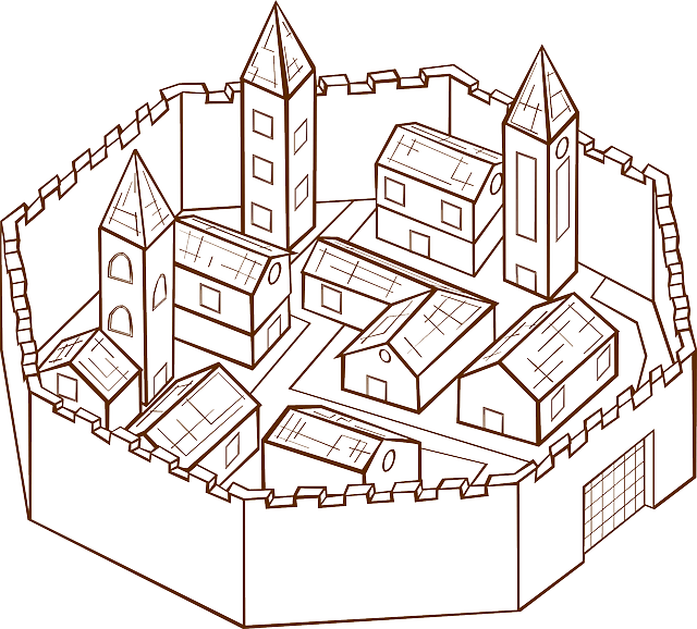 Medieval Town Village Surrounding · Free vector graphic on