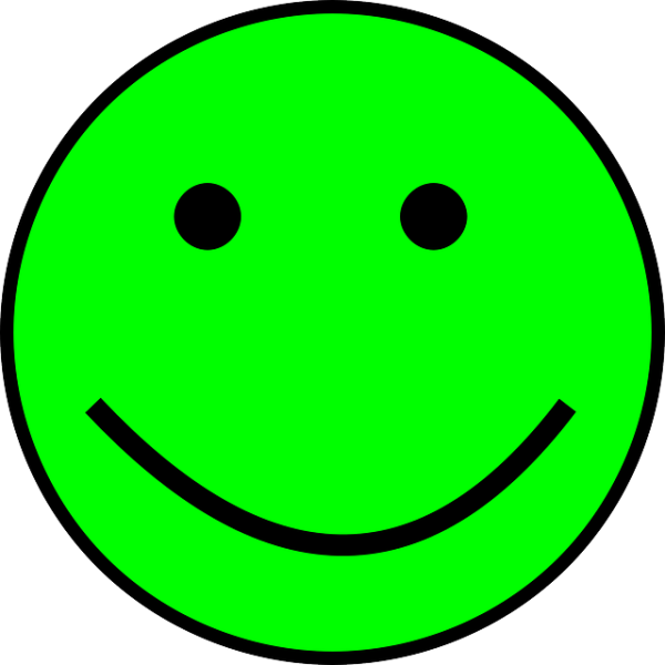 smiley green simple free vector