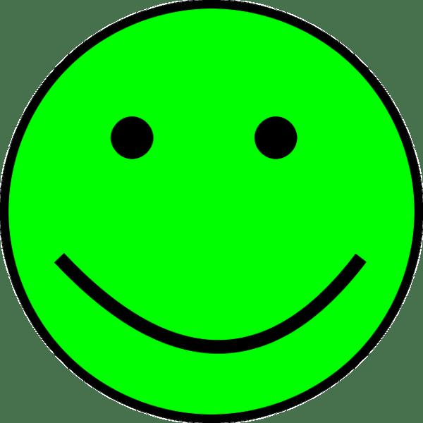 smiley vert simple vectorielles