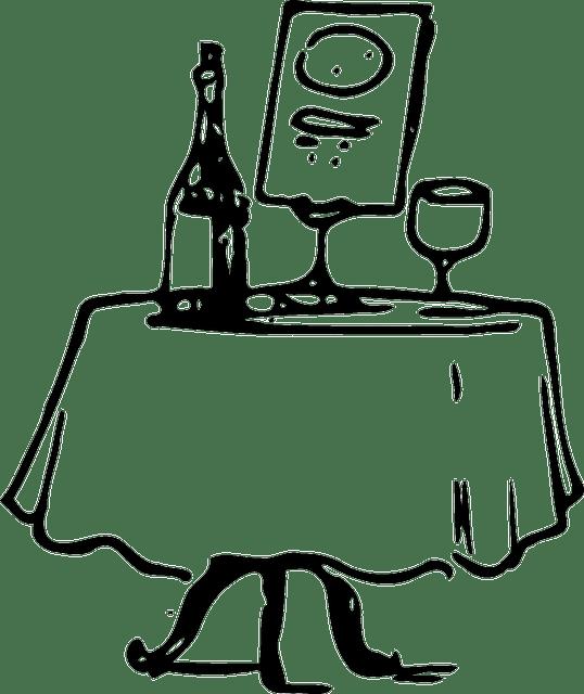 Tisch Wein Abendessen · Kostenlose Vektorgrafik auf Pixabay