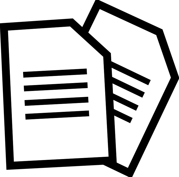 Documents Paper · Free vector graphic on Pixabay
