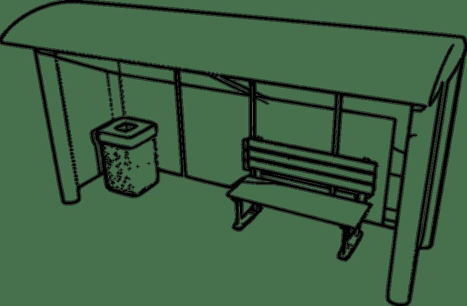 Image vectorielle gratuite: Abri, Arrêt De Bus, De