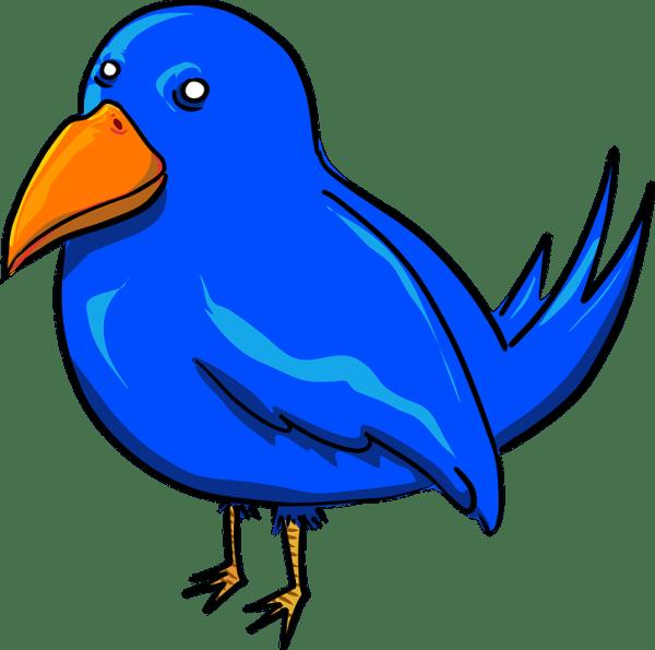 free vector graphic bird blue