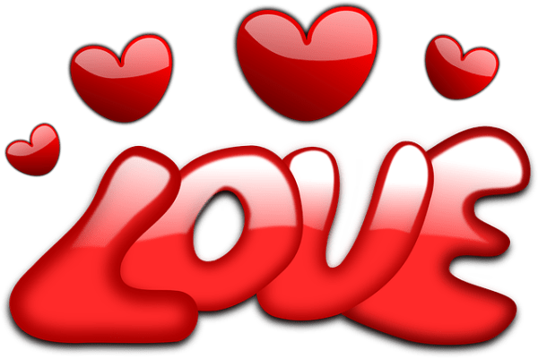 love hearts valentine free vector