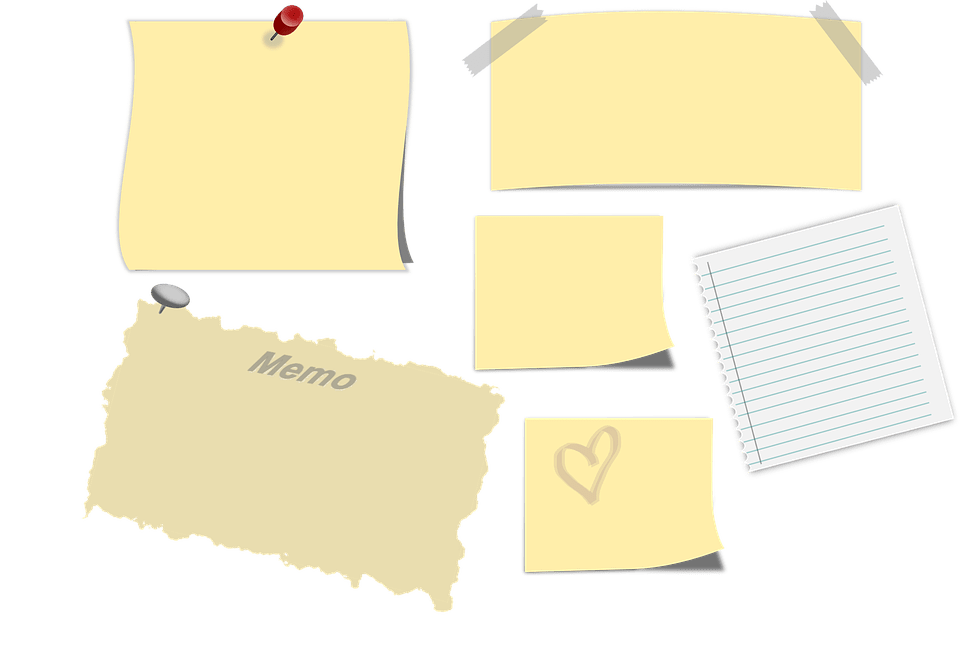 memo sticky note post it free vector