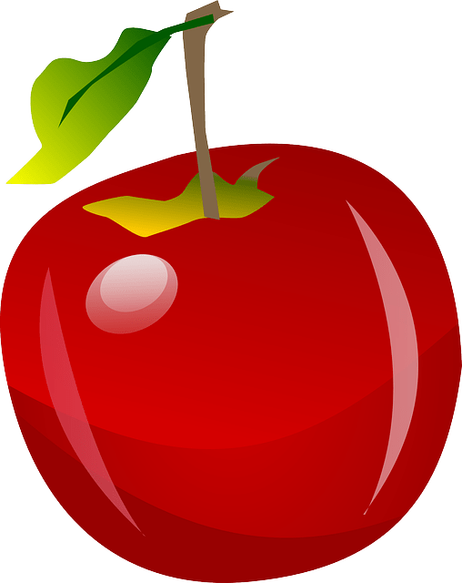 free vector graphic apple fruit