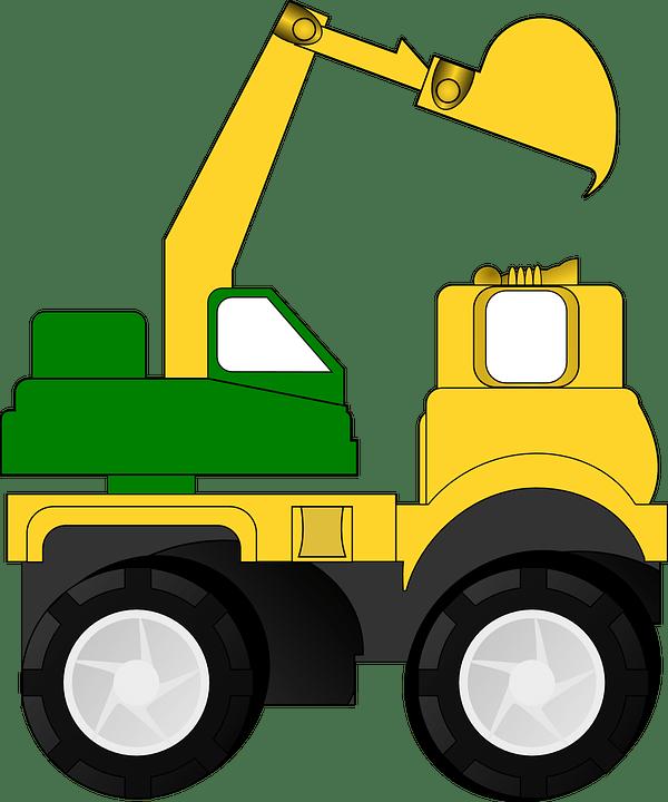 Trackhoe Clipart : trackhoe, clipart, Backhoe, Excavator, Dredger, Vector, Graphic, Pixabay