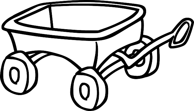 Wagon Clipart Black And White