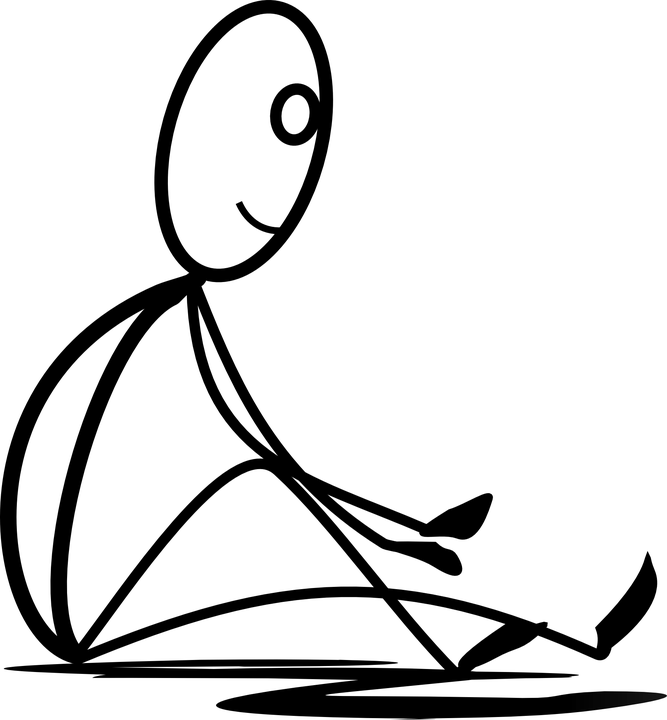 Free Vector Graphic Sitting Stretching Resting