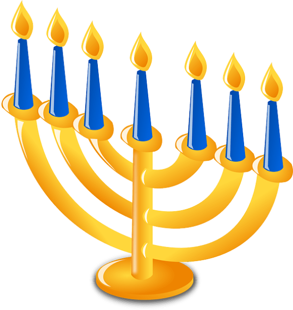 judaism candles hanukkah free
