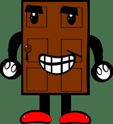 door cartoon clipart pintu legs clip eyes pixabay prize arms smile mouth sc st mothering doors comic hyperbole creature cbl