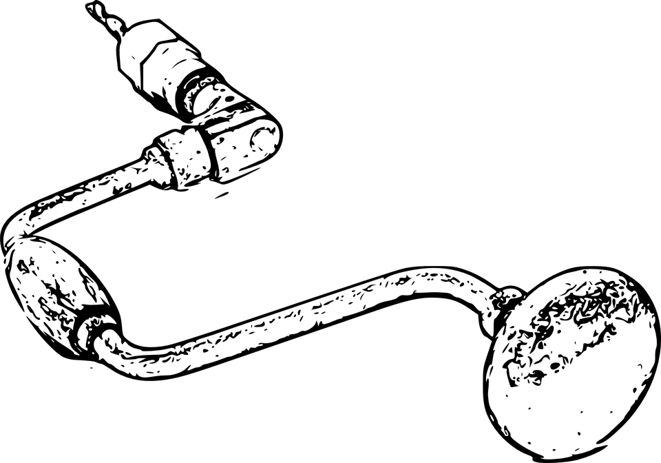 Hand Brace Auger Gimlet · Free vector graphic on Pixabay