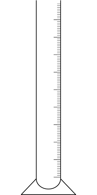 Free vector graphic: Measuring Glass, Graduated Cylinder