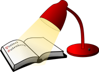 Free vector graphic: Reading Lamp, Book, Lamp, Light