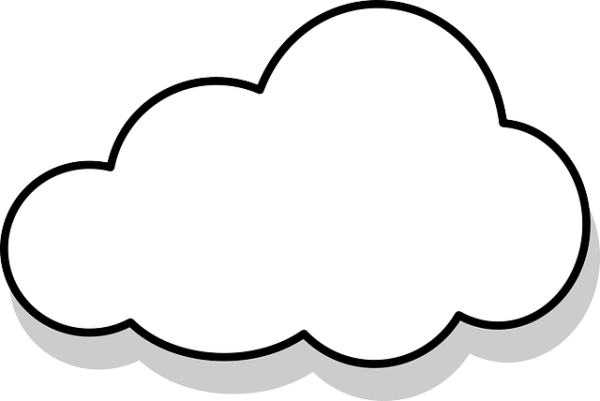 free vector graphic cloud thought