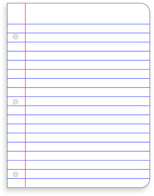 Free Vector Graphic Stationery Office Paper Lined
