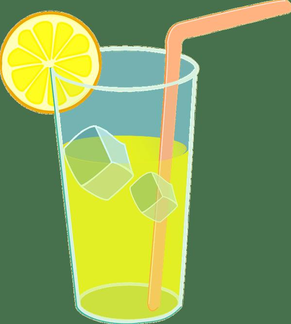 lemonade glass ice free vector