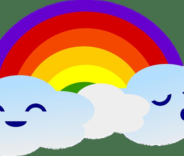 Pelangi Awan Lucu Gambar Vektor Gratis Di Pixabay