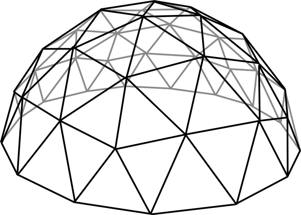 Grid Dome Hall · Free Vector Graphic On Pixabay