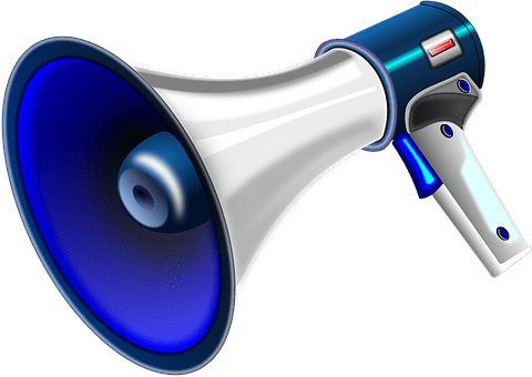 An image of a megaphone, in regards to this article about being right.