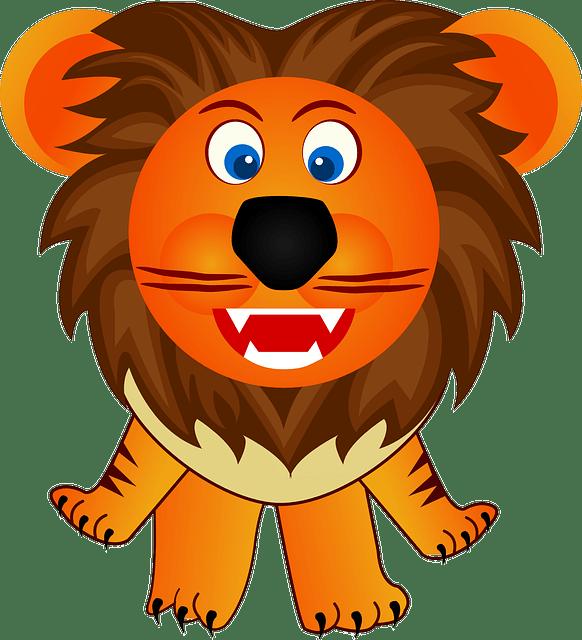 Free vector graphic Lion Animal Cute Orange Cartoon