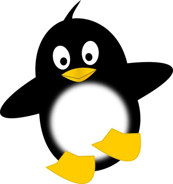 penguin tux funny free vector