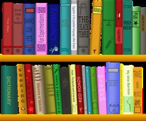 Hylla, Böcker, Biblioteket, Läsning