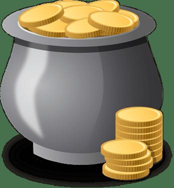 コイン, ゴールド, お金, 宝物, 財務省, ゴールデン, ポット