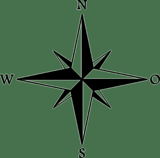 Kompas Utara Selatan · Gambar vektor gratis di Pixabay