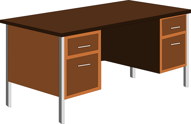 Free vector graphic Desk Office Table Cupboard  Free